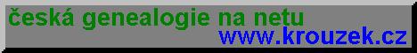Ceska genealogie na internetu na strankach Petry a Petra Krouzkovych